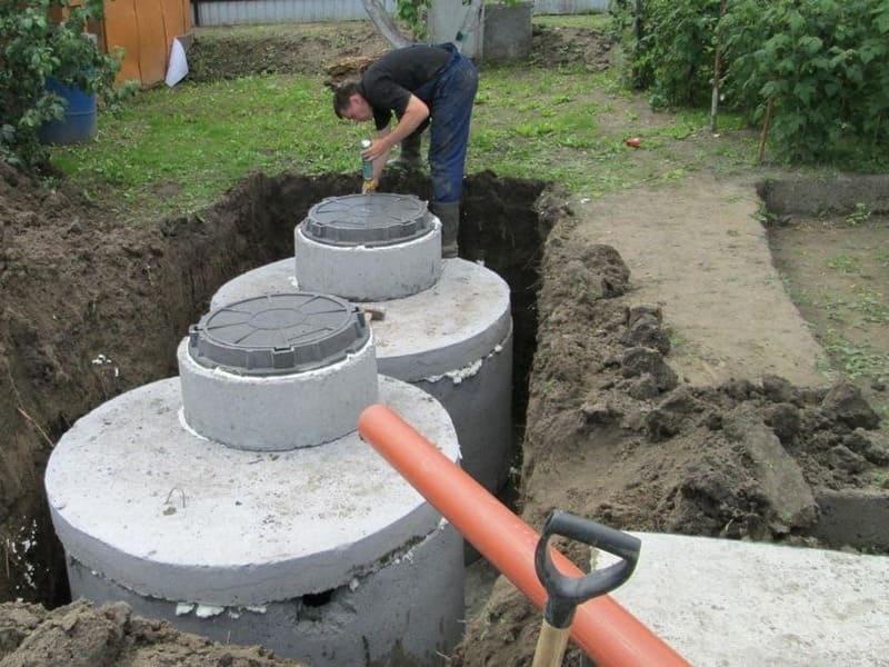 септик из бетонных колец в Домодедово